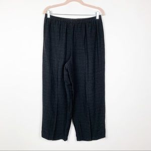 Eileen Fisher Wide Leg Cropped Pants Black #0065